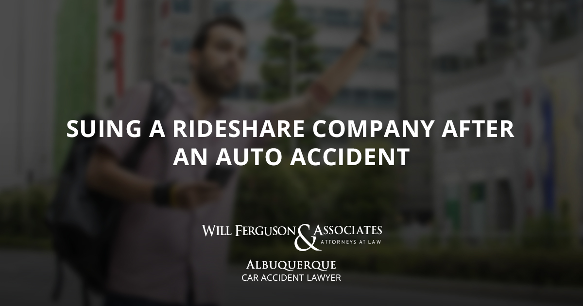 Suing a Rideshare Company after an Auto Accident
